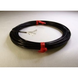 13AWG Black Teflon - Silver plated copper.