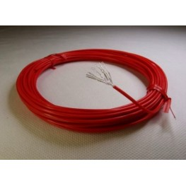 13AWG Red Teflon - Silver plated copper.