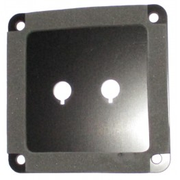 Binding Post Plate - Single Anodised.